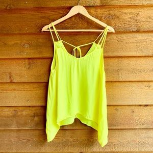 Mason Bright Yellow Semi Sheer Tank